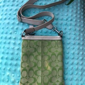 Coach Bags - Green Coach Logo Crossbody Bag